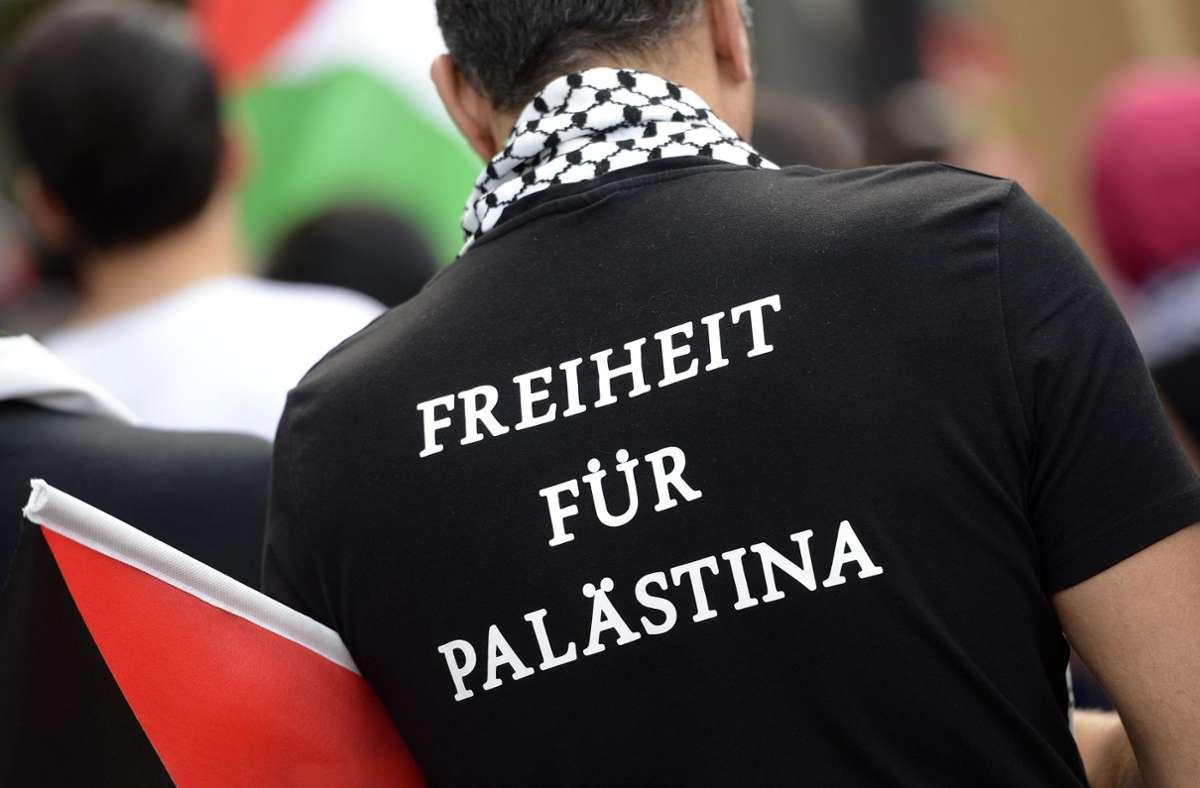 Im Nahost-Konflikt um den Gazastreifen formiert sich, wie hier auch schon 2014, der pro-palästinensische Protest. Foto: dpa/Daniel Maurer