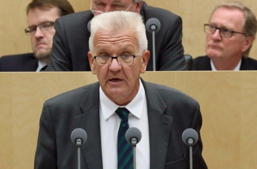 Der baden-württembergische Ministerpräsident Winfried Kretschmann. (Archiv) Foto: dpa