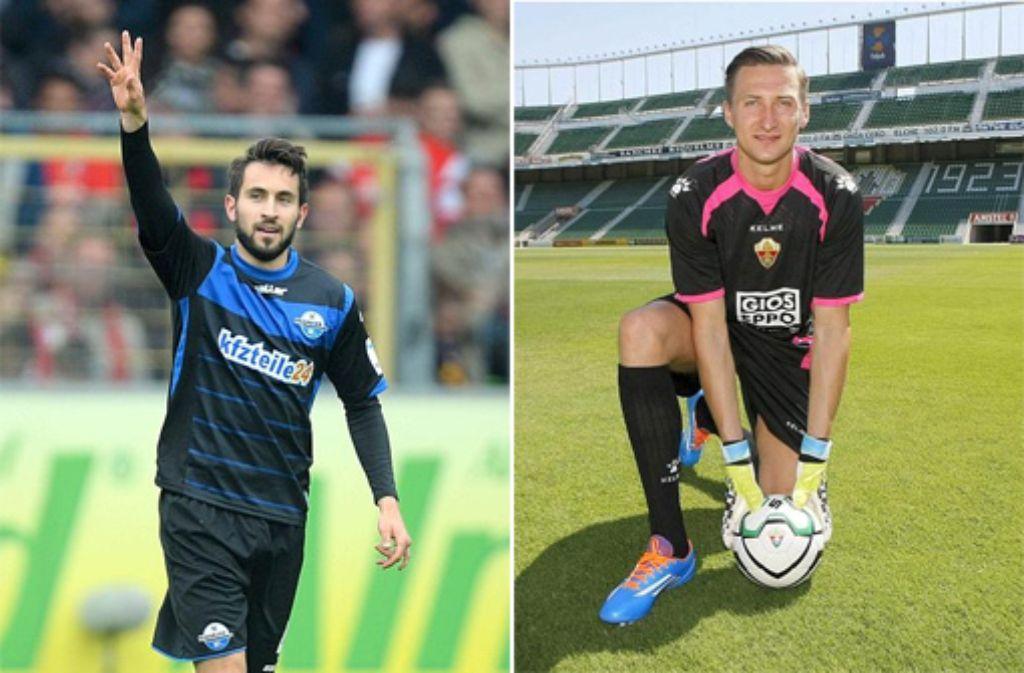 Vom VfB Stuttgart als Neuzugänge bestätigt: Lukas Rupp (links) und Przemyslaw Tyton. Foto: dpa/SIR-Montage