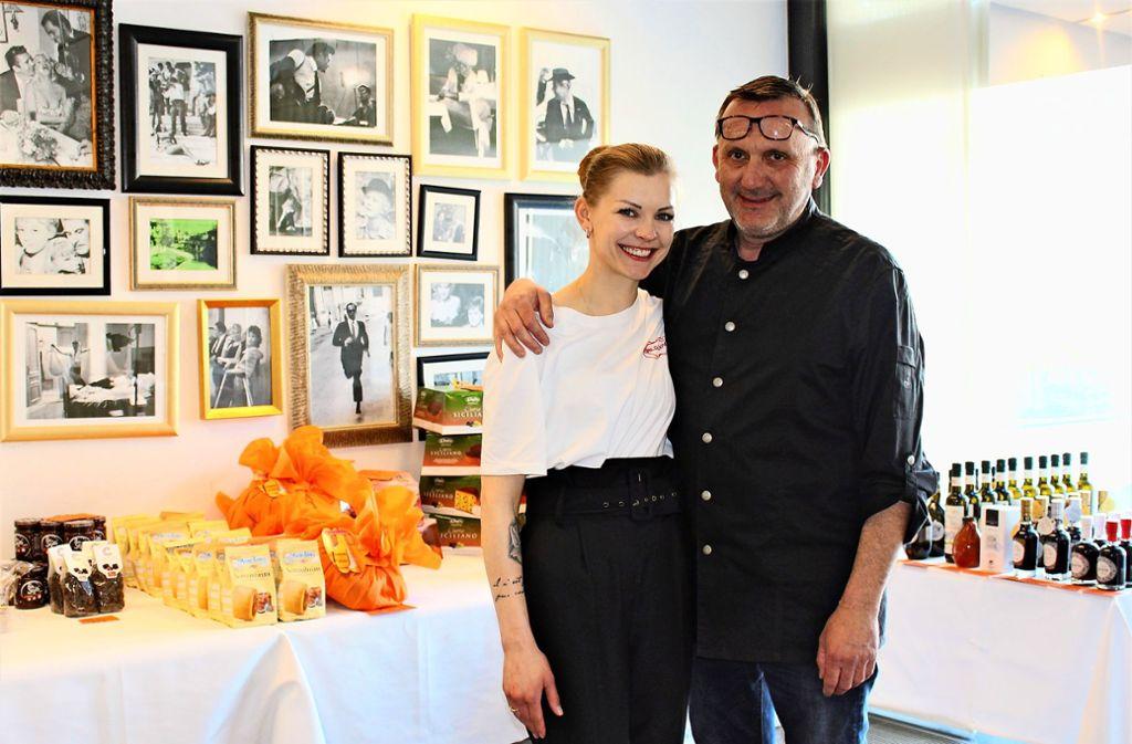 """Agnieszka Malinowska und Carlo Casorati vom """"Bianco e Nero"""" Foto: Caroline Holowiecki"""