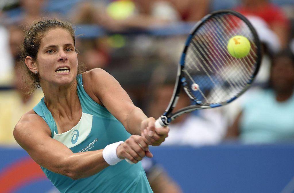 Die Deutsche Julia Görges verlor das Finale in Washington gegen die Russin Jekaterina Makarowa. Foto: AP