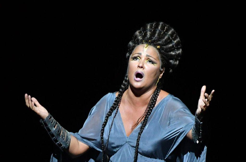 """Anna Netrebko, hier in der Salzburger """"Aida"""" Foto: AFP/BARBARA GINDL"""