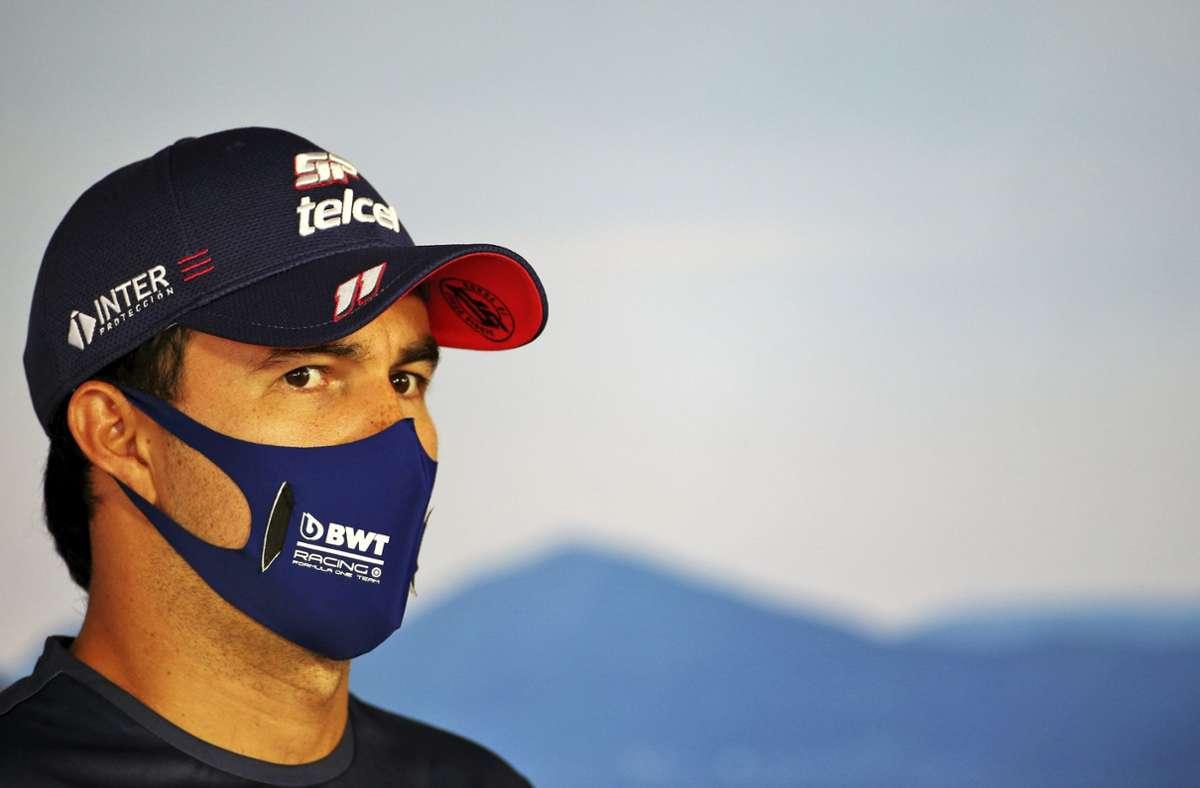 Bei Sergio Perez fiel der Coronatest positiv aus. Foto: dpa/Uncredited