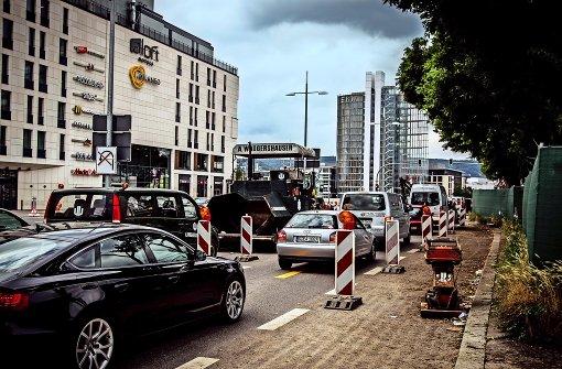 Schon wieder ein Engpass auf der Heilbronner Straße