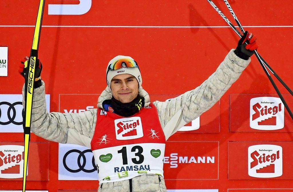 Vinzenz Geiger ist zurzeit der beste deutsche Kombinierer. Foto: AFP/Barbara Gindl