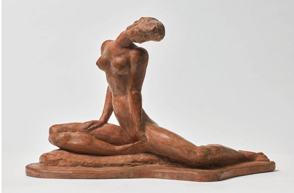 """Lehmbrucks """"Sitzendes Mädchen"""" (1913) wurde als """"entartet"""" beschlagnahmt. Foto: Staatsgalerie"""