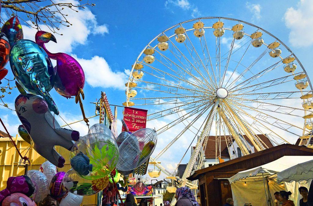 Vom Riesenrad aus bietet Göppingen ungewohnte Perpektiven. Foto: Pflüger
