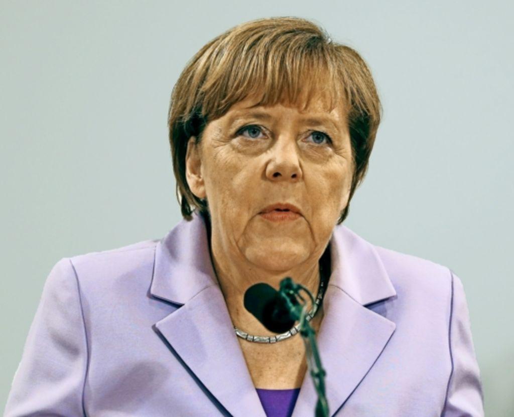 Bundeskanzlerin Angela Merkel sieht Nachholbedarf bei der Förderung. Foto: AP