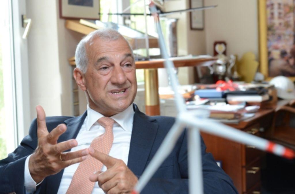 Windreich-Chef Willi Balz hat sich nach dem Insolvenzantrag seines Unternehmens mit sofortiger Wirkung aus der Geschäftsführung zurückgezogen. Foto: dpa