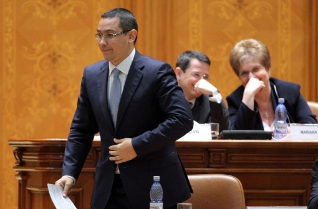 Die Regierung unter Führung des Sozialisten Victor Ponta soll bis zur Parlamentswahl im November amtieren. Foto: EPA