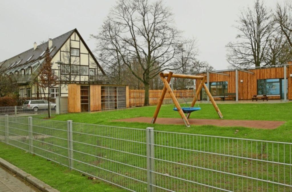 Der Kindergarten an der alten Wache bietet jede Menge Platz zum Spielen. Foto: Horst Rudel