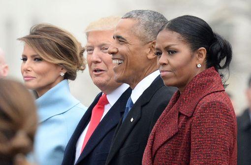 Michelle Obamas Gesichtsausdruck bewegt das Netz