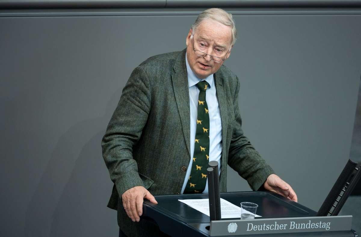 Gauland ist Ehrenvorsitzender der AfD Brandenburg. Foto: dpa/Bernd von Jutrczenka