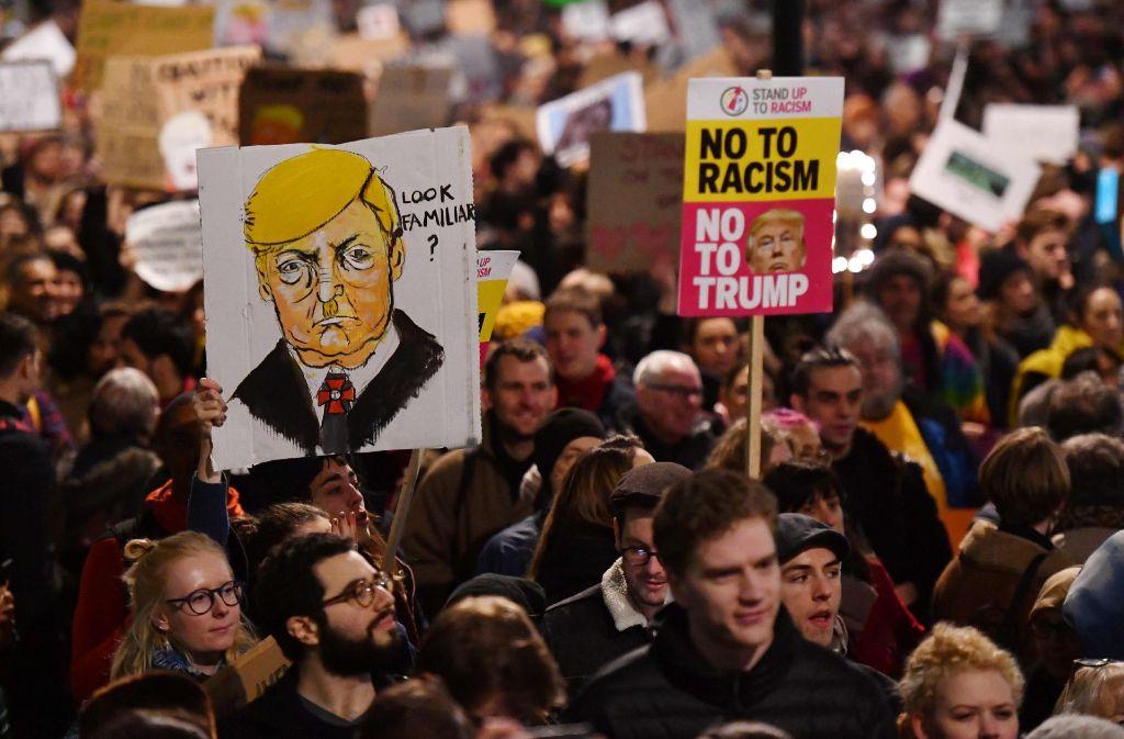 Der Widerstand gegen den neuen US-Präsidenten Donald Trump wächst. Foto: AFP