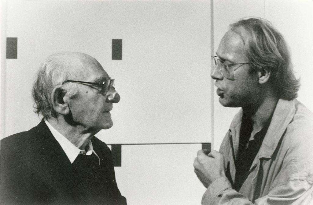 Eingespieltes Team: Anton Stankowski und sein Büropartner Karl Duschek. Foto: Staatliche Museen zu Berlin/Dietmar Katz