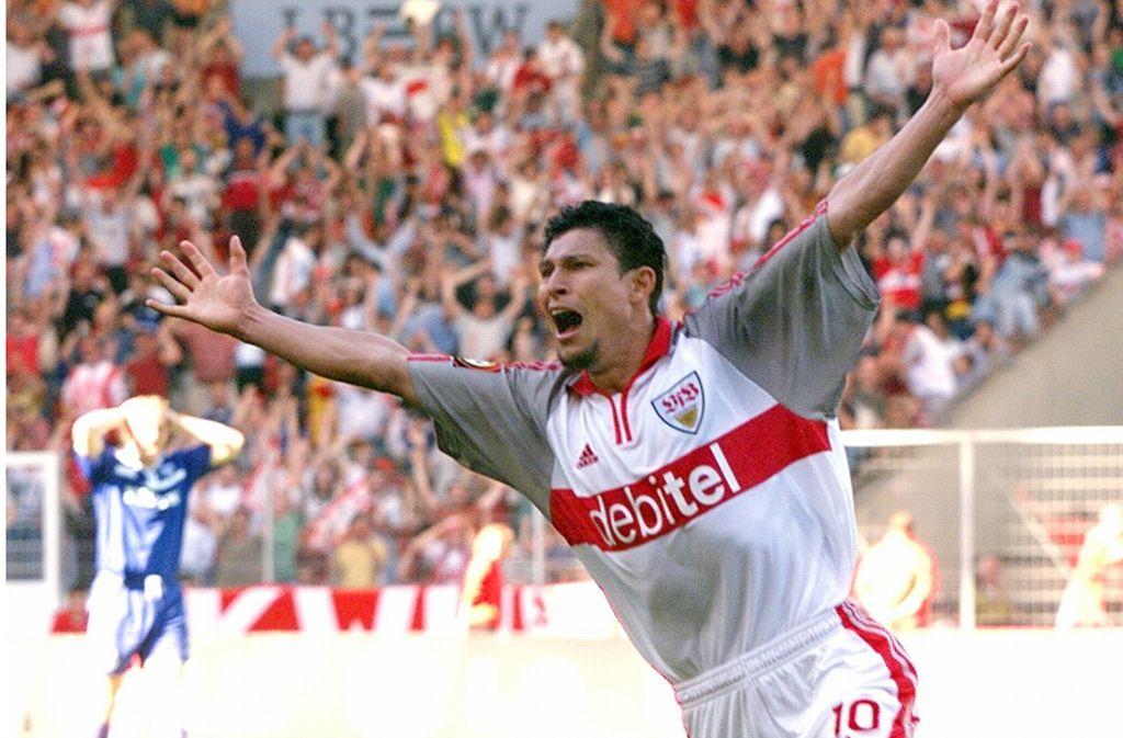 Krassimir Balakovs Tor bewahrte den VfB vor dem Abstieg. Foto: imago sportfotodienst