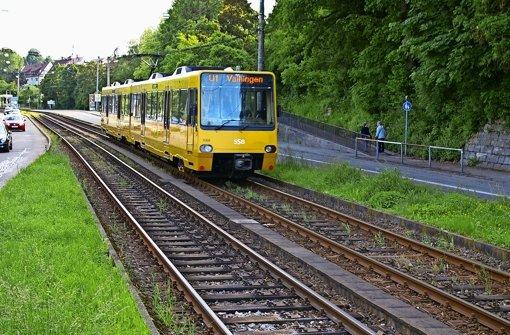 Die U1 zwischen Vaihingen und Fellbach wird während der Umbauphasen der Haltestelle Staatsgalerie umgeleitet werden. Foto: Alexandra Kratz