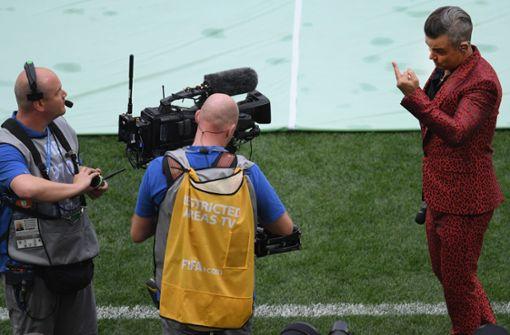 US-Sender entschuldigt sich für Robbie Williams' Mittelfinger