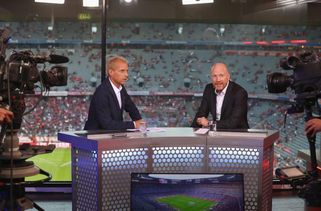 Moderator Jan Henkel (links) und Eurosport-Experte Matthias Sammer Foto: Bongarts