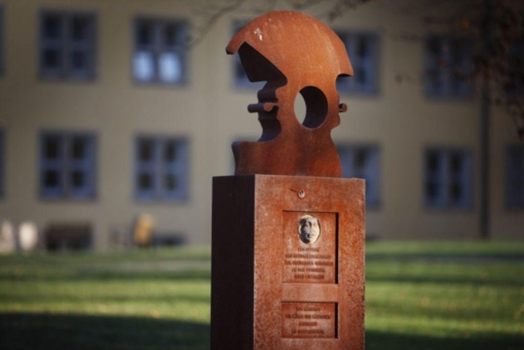 Mahnmal für die Holocaustopfer beim Zentrum für Psychiatrie. Foto: Gottfried Stoppel