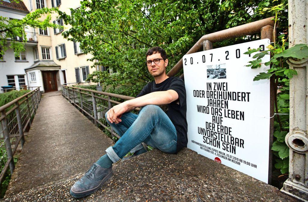 Der umtriebige Künstler Leander Schwazer bespielt einen neuen Ort. Foto: Ines Rudel