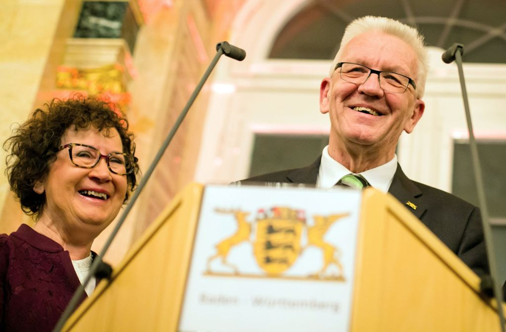 Winfried Kretschmann beim Neujahrsempfang der Landesregierung in Stuttgart. Foto: dpa
