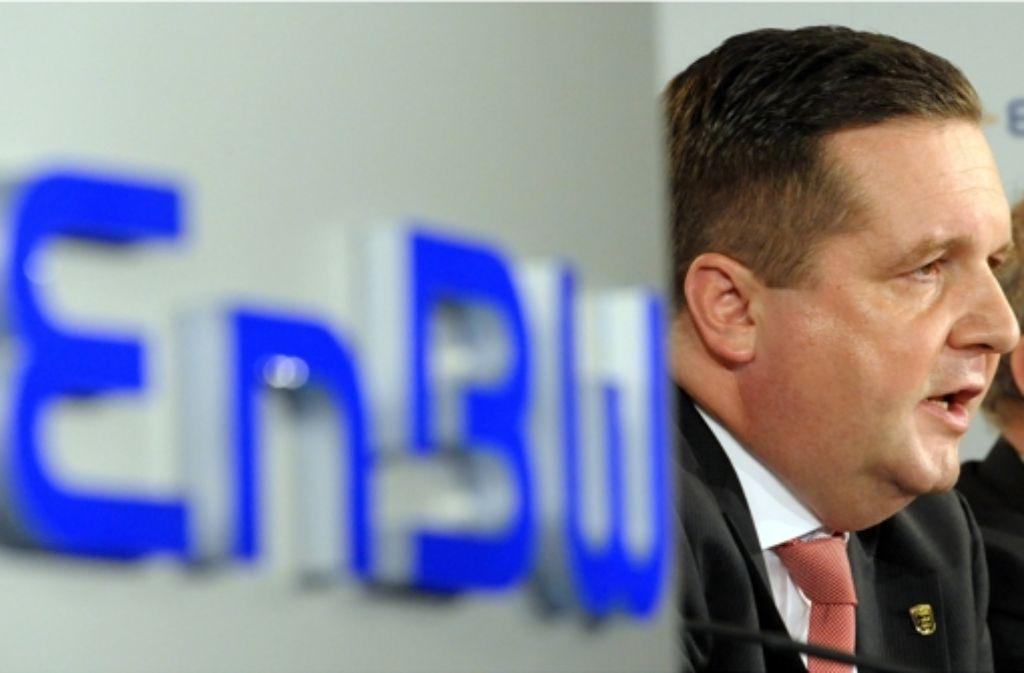 Ein Foto aus dem Jahr 2010: Der damalige Ministerpräsident Stefan Mappus (CDU) äußert sich zur Übernahme des Energiekonzerns EnBW durch das Land. Foto: dpa