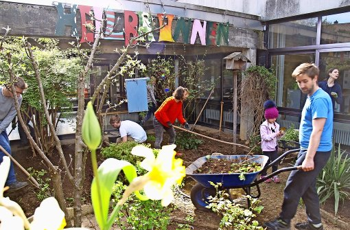 Neuer Garten für die Heilbrunnenschule