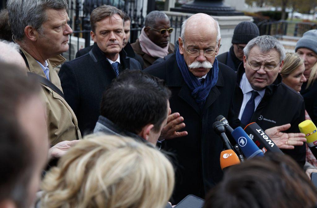 Daimler-Chef Zetsche berichtet von seinem Treffen mit Trump. Foto: AP
