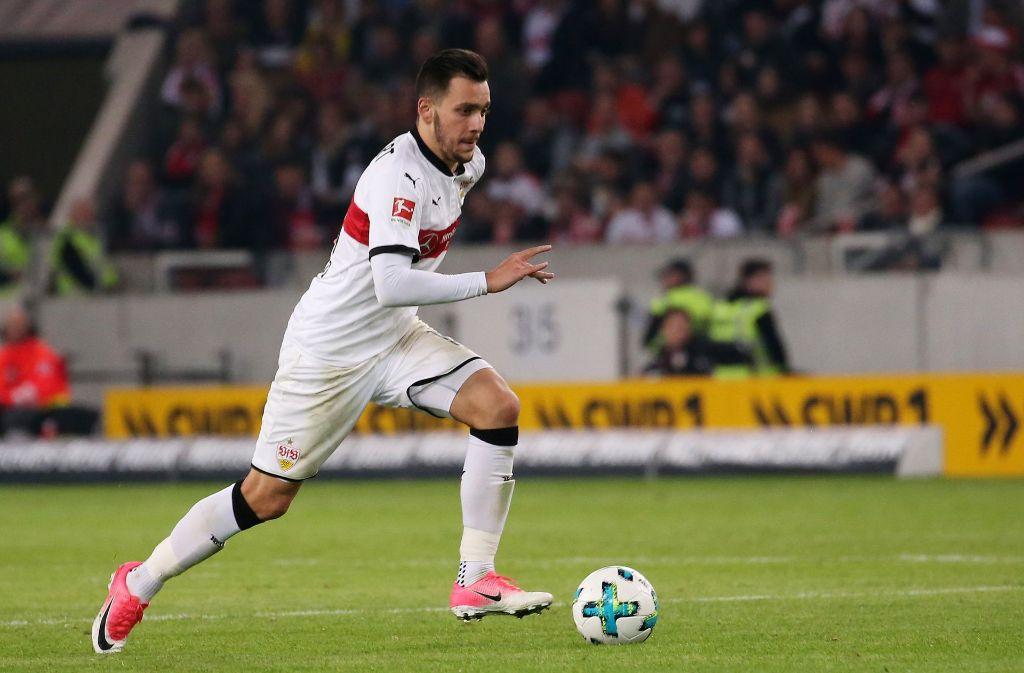 Anastasios Donis kann frühestens im Dezember wieder für den VfB Stuttgart auflaufen. Foto: Baumann