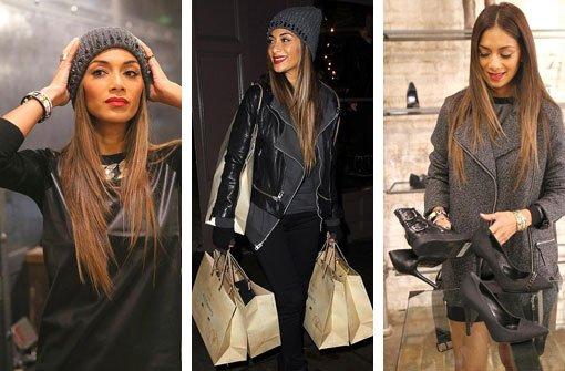 Sängerin auf Shopping-Tour in London