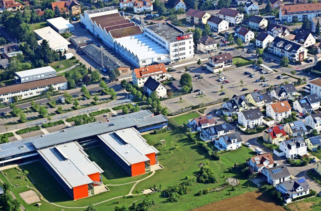 Wenn  die Firma Bosch 2019  ihren  langjährigen Standort in Rutesheim schließt, wird auf dem Gelände ein  neues Wohngebiet entwickelt. Foto: Stadt Rutesheim