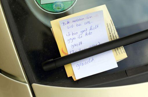 Verursacher lässt unlesbaren Zettel zurück