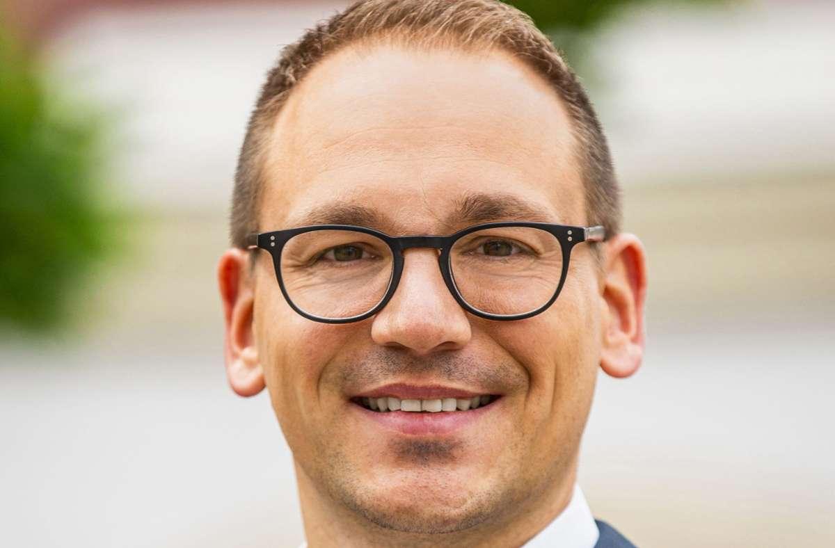 Robert Feil, Bürgermeister von Löchgau Foto: /Michael Bleeser