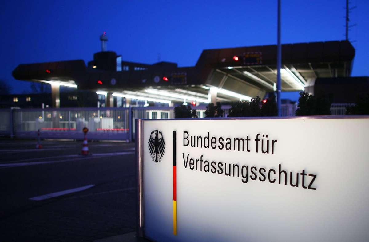Das Bundesamt für Verfassungsschutz (BfV) in Köln. (Archivbild) Foto: dpa/Oliver Berg