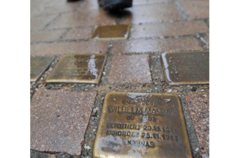 Stolpersteine sollen an Opfer des NS-Regimes erinnern. Foto: dpa