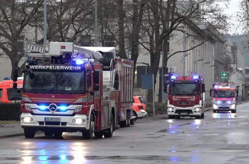 Brand  in Daimler-Werk