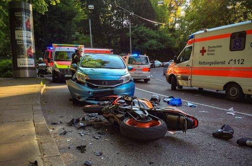 23-jähriger Motorradfahrer nach Unfall schwer verletzt