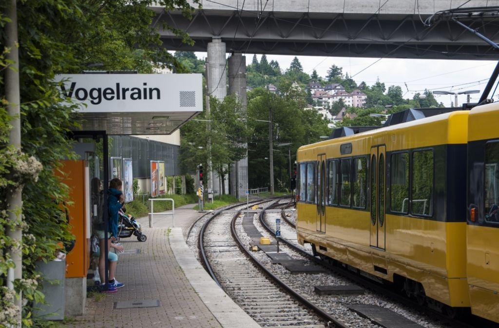 Wenige Minuten vom Marienplatz entfernt: Die Endstation in Heslach-Vogelrain. Foto: Beate Pundt