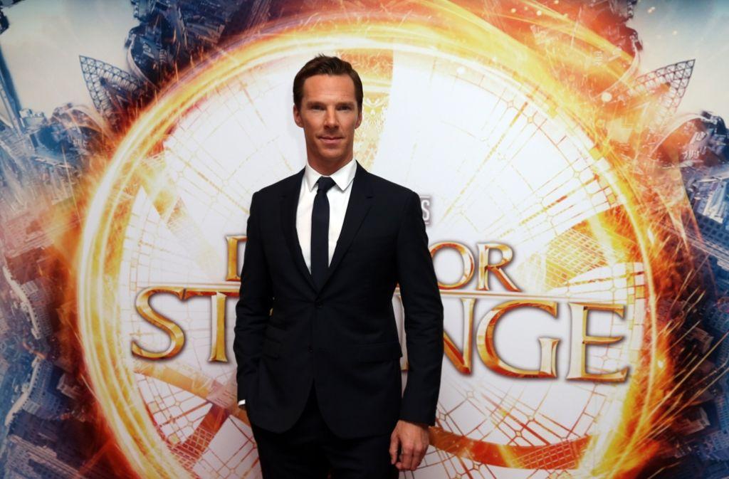"""""""Doctor Strange"""" Darsteller Benedict Cumberbatch bei der London-Premiere des Films. Foto: Invision"""