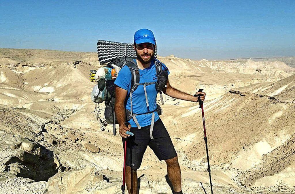 1000 Kilometer als Vorbereitung: Tal Reichenstein ging  den Israel Nation Trail. Foto: privat
