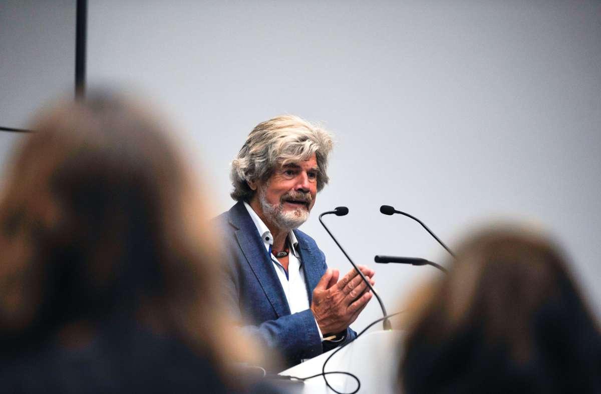 Reinhold Messner, der Botschafter für Nepal. Foto: Lichtgut/Max Kovalenko