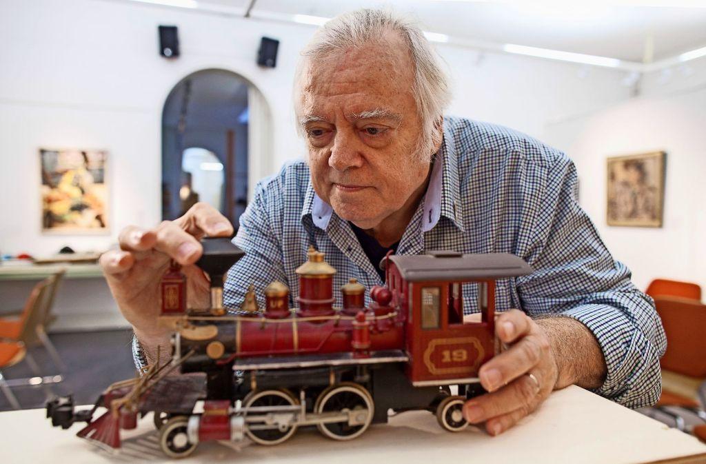 Eisenbahn-Fan Peter Haug stellt seine Exponate dem Museum zur Verfügung. Foto: Bartek Langer