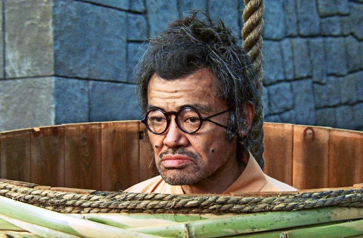 """Der glücklose Kanjuro (Takaaki Nomi) steckt in """"Samurai ohne Schwert"""" ganz schön in der Patsche. Foto: Saya Zamurai"""
