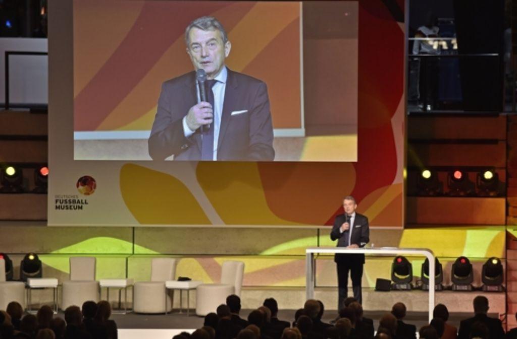 Die Eröffnung des Deutschen Fußballmuseums stand im Schatten der aktuellen DFB-Probleme. Foto: AP