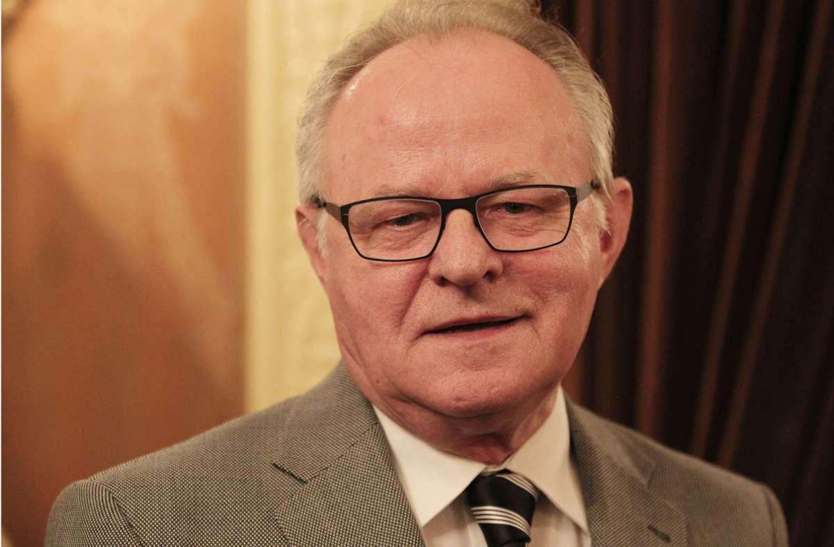 Rainer Woihsyk (1942-2020) im Dezember 2010 bei einer Ballettvorstellung im Opernhaus Foto: Franziska Kraufmann