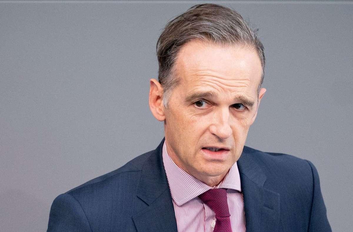 Bundesaußenminister Heiko Maas ist auf Twitter ein Fehler unterlaufen. (Archivbild) Foto: dpa/Kay Nietfeld