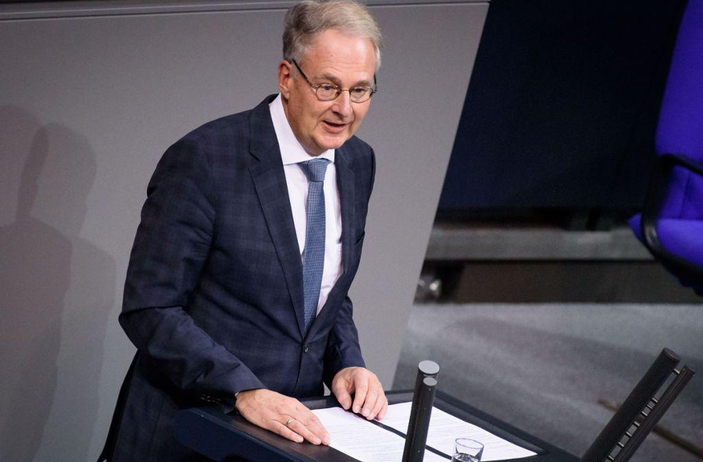 Der AfD-Abgeordnete Roland Hartwig spricht im Bundestag. Foto: imago images/Christian Spicker