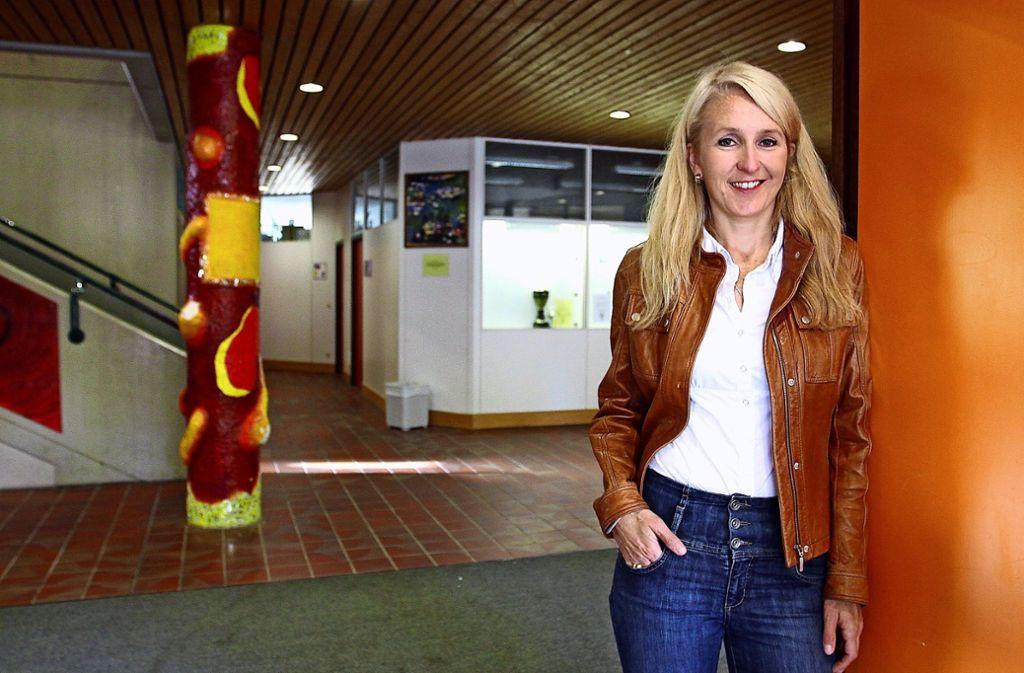 Sandra Vöhringer lässt in wenigen Tagen die Glemstalschule hinter sich. Foto: