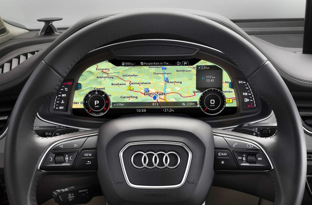 Der Kartendienst Here bietet hochpräzise Straßenkarten an.   Der Kartendienst Here bietet hochpräzise Straßenkarten an. Foto: Audi AG